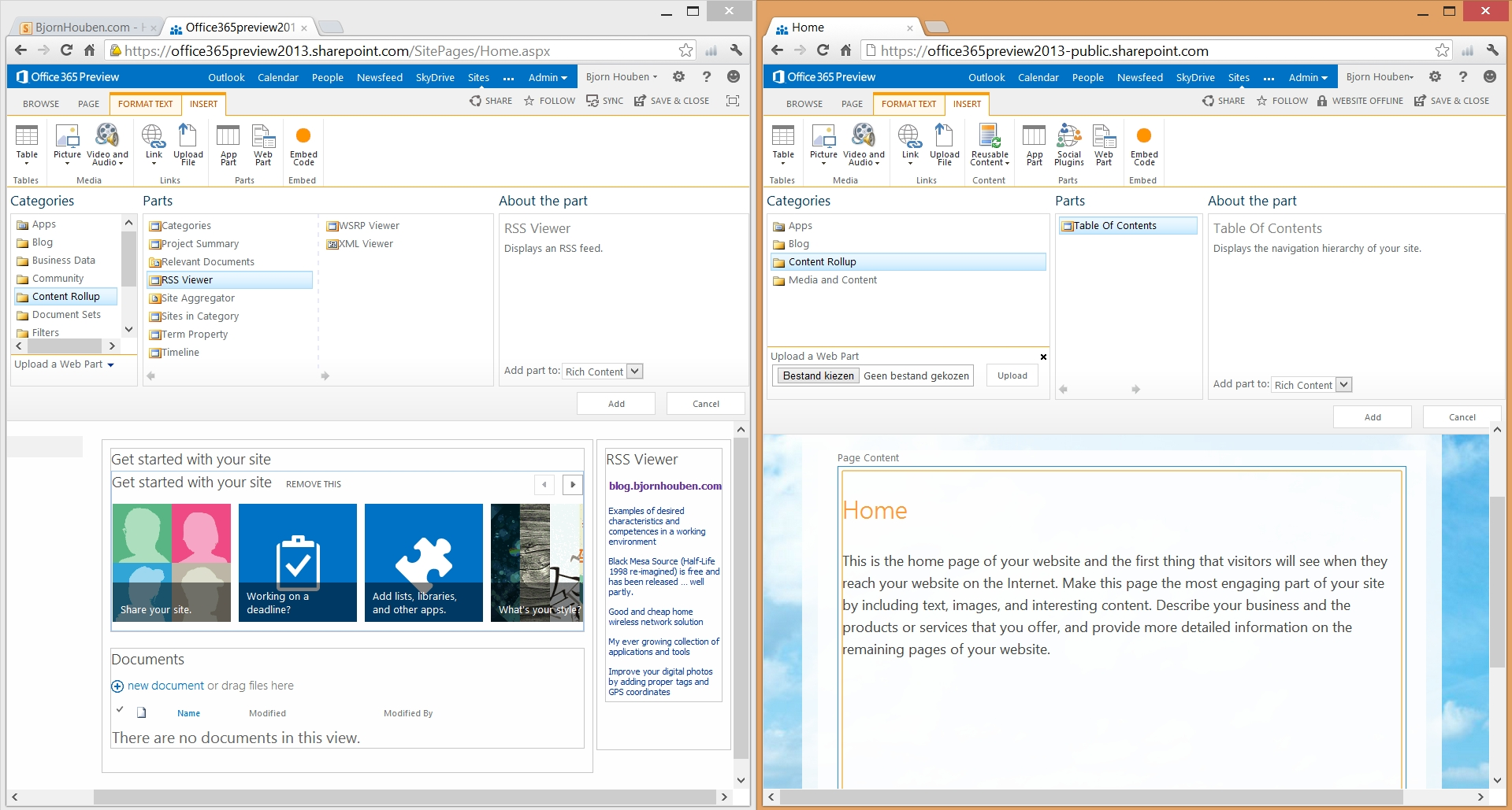 Office 365 / Sharepoint online – Workaround to add RSS feed web ...